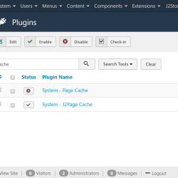 1.Turn off Joomla cache plugin